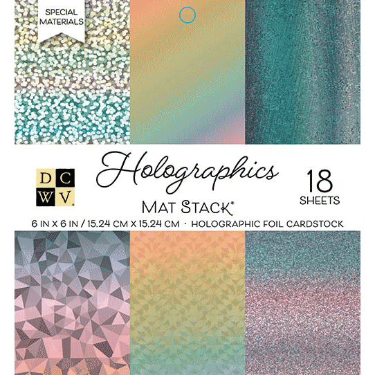Crafts American Crafts Specialty Paper 12x12 Collage Supplies Silver Holographic Sparkles