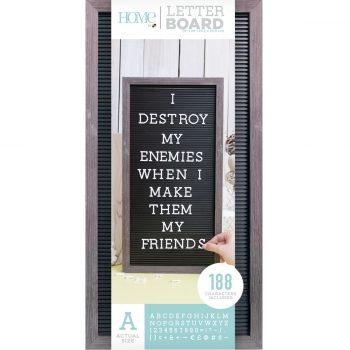 """Pink Letter Board With Black Letters 8"""" X 8"""""""